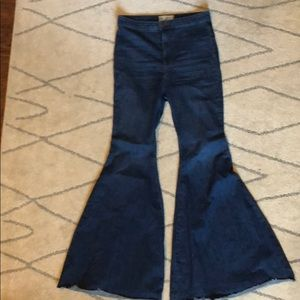 Size 30 free people stretch bell bottoms highwaist